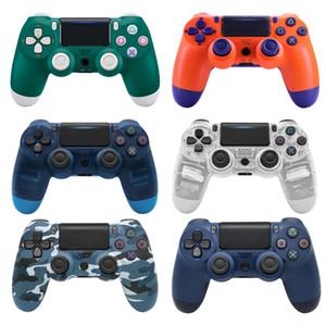 تحكم Bluetooth Vibration Gamepad JamePad Wireless Joystick for PS4 Games Console مع شريط الضوء للتبديل مع مقبض 6 محاور Y0114