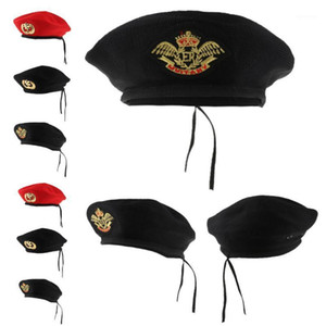 Adults Kids Sailor Hat Knitted Beret Hat Navy Mariner Cap Costume Fancy Dress Accessories1