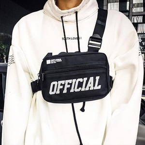 Men Chest Bag Small Tactical Chest Rig Hip hop Vest Bag Outdoor Streetwear Bags For Men Waist Pack Kanye