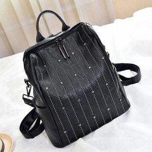 Zaino morbido LW0253 nuove donne di modo Torna sacchetto di alta qualità Split Leather zaino da viaggio Rivet Donne Decorazione giustizia Zaini Ca 420C #