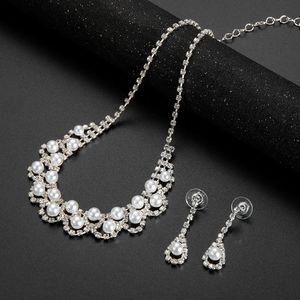 Fashion wedding jewelry Joker Europe and America temperament bride necklace set Cross-border hot sales factory direct spot