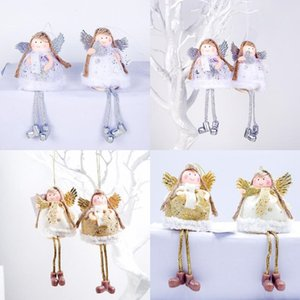Lovely Angel Girl Doll Christmas Tree Pendants Hanging Ornaments Gifts Xmas New Year Party Decor Home Decoration DHL CCA3379