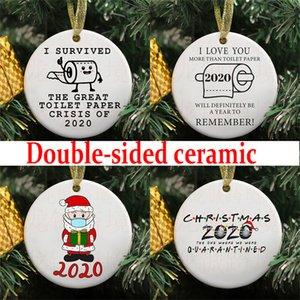Süsleme Noel Tatili Süsleri Yılbaşı Noel ağacı kolye Süsleri CCE2326 Of özelleştir pictur Seramik Kişiselleştirilmiş Noel Baba