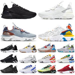 react vision epic react element 87 55 Erkek Kadın Koşu Ayakkabı beyaz siyah Yelken Kraliyet Tonu Çöl Kum tasarımcı nefes spor sneaker boyutu 36-45