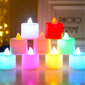 Halloween Candles Lights 8 Colors Battery Operated LED Candles Flameless Flickering Wedding Birthday Party Decoration Lighting