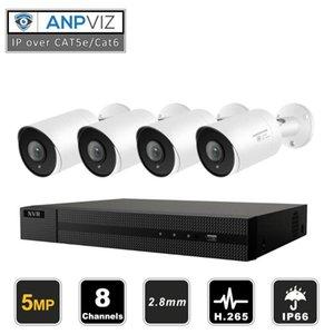 8CH HIKVISION NVR 5MP Sécurité extérieure Poe Caméra IP CCTV Système de système de vidéosurveillance audio Caméra IP SURVEILLANCE NVR Kit NVR