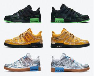 Air New Off authentique caoutchouc blanc vert dunk Université Grève Université Or Bleu Chaussures de course Hommes Femmes Zapatos Sneakers sport 36-45