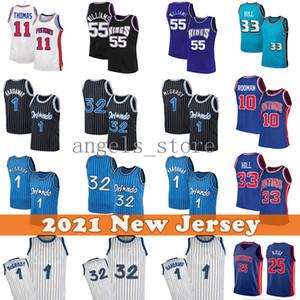 Jason 55 Williams Retro Basketball Jersey Penny 1 Harfaway Tracy 1 McGrady 2021 Nova Jerseys Mens Adulto
