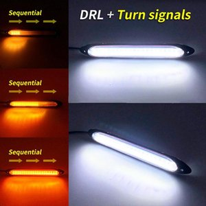 Auto-LED Tagfahrleuchte Auto wasserdichte Scheinwerfer-Streifen 6W 720LM Xenon Weiß Tagfahrleuchte Sequential Flow-Gelb