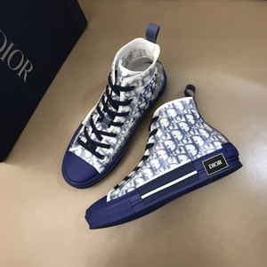 Luxury Designer 19SS Oblique Homme KAWS B23 Marque Paris Basket Chaussures Mandrin toile Bottes Souliers simple