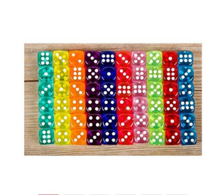 10PCS Lot Dice Set Dice Games 10 Colors High Quality Acrylic 6 Sided Transparent Dice For Club Party Family Games 14mm