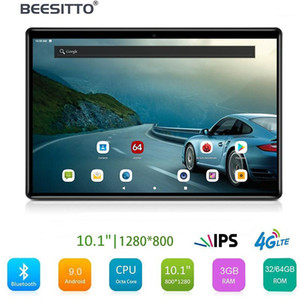 Free Shipping 10 inch tablet 64GB Storage 1280 x 800 IPS HD Screen 5.0MP Camera Dual 4G SIM Phone Call Android 9.0 tablet pc GPS1