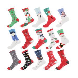 Inverno Donne calza Red Christmas Sock Cute Cartoon Elk Deer Calze Cotone Tenere caldo Baby Girl Boy Soft Socks DHA2091
