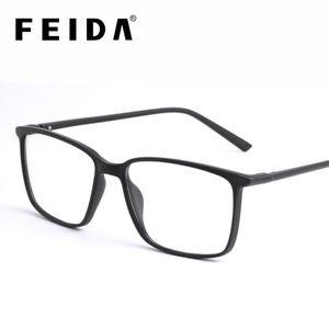 FEIDA Square Computer Glasses Anti Blue Light Blocking Glasses Clear Eye Glass Frames for Men Retro Men's Anti Blue Ray Glasses LJ201007