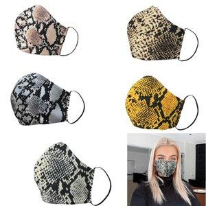 Leopard Print Fashion Face Masks Washable Dustproof Face Mouth Masks Women Reusable Designer Face Mask DHL Shipping