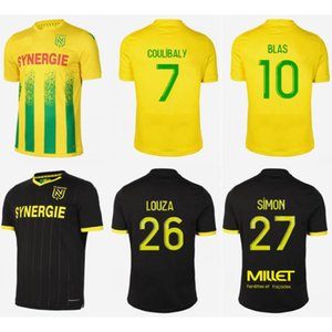 2020 21 FC Nantes Soccer Jersey 2021 #10 BLAS COCO A TOURE Soccer Uniform Mens #7 COULIBALY LOUZA SIMON Football Shirt