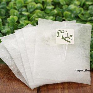 حقائب 6000PCS الذرة الألياف الشاي الهرم شكل حرارة ختم تصفية أكياس الشاي PLA Biodegraded الشاي فلاتر 5.8 7CM *