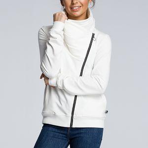 CINESSD Autumn Winter Coat Jacket Women Turn Down Collar Long Sleeve Zipper Cardigan Casual Hoodies Sweatshirt with Pockets 201015
