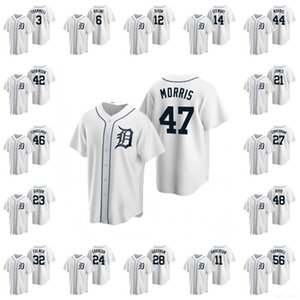 Detroit \ rTigers \ rmen Jackie Robinson Alan Trammell Al Kaline Brandon Dixon Stewart Christin Replica Hommes Femmes Enfants Baseball Maillots