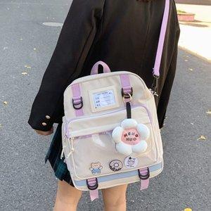 Joypessie Fashion Women Mochila Nylon Design Girls Black School Bag para adolescente Kawaii Viaje a prueba de agua Mochila Rucksack C0202