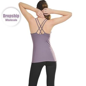 S-2XL Sports Top with Cup Jersey Shirt Fitness Bra Cover Workout T-shirts Clothes Women Yoga Vest Sportwear Running Suit Singlet