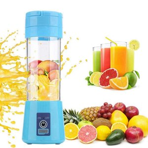 Portable Fruit Juicer 380ml 6 Blades Portable Electric Home USB Rechargeable Smoothie Maker Blenders Machine Bottle Juicing Cup RRA3715