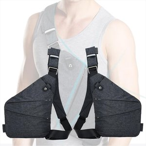 Male Shoulder Bags 2020 Travel Business Burglarproof Shoulder Bag Holster Anti Theft Security Strap Digital Storage Chest Bags