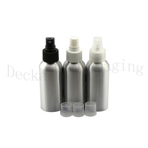 20pcs 30ml empty aluminum bottles with spray pump 30cc mist metal Silver Perfume Sprayer Aluminum container vial