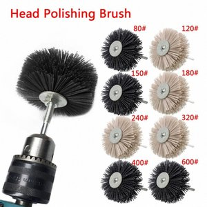Nylon Wheel Brush 1pc Абразивный Проволока Шлифование головки цветка Абразивный деревообрабатывающий Полировка Кисть Bench Grinder Для Деревянная мебель aoBM #