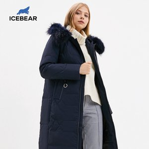 marka kadın giyim GN318302P 201.017 parka yeni kış uzun kadın aşağı ceket moda sıcak bayanlar icebear