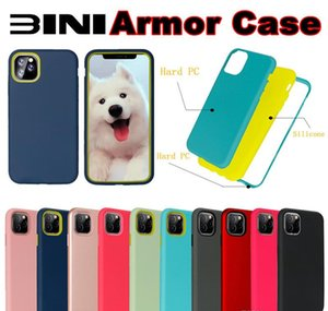Armor Phone Case For Iphone 11 Pro Max 6 7 8 Plus XS MAX XR Samsung Note 10 Pro A10S M30S A2 CORE 3 in 1 Shockproof Hybrid TPU PC Back Cove