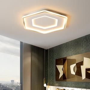 Modern LED living room ceiling chandelier for bedroom Study Room White Gold Chandelier Fixtures Ultra-thin kitchen lighting