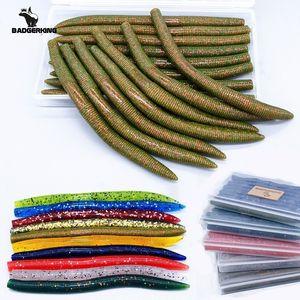 15 pcs / lotes macio parasitil senko worm isca de pesca para weenless neko equipamento wacky equipamento 14cm 8.5g dura nadar isca de silicone isca 201031