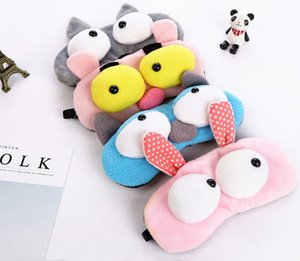 Funny Big Eyes Cartoon Animals Sleep Eye Mask Padded Shade Cover Flannelette Rest Travel Relax Sleeping Aid Blindfold Cover