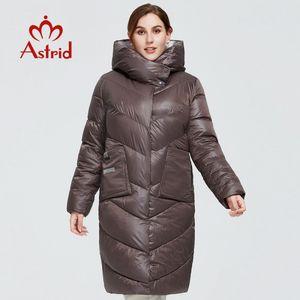 Astrid New Winter Women's coat women long Model warm parka fashion Jacket hooded Bio-Down large sizes female clothing 9556 201014