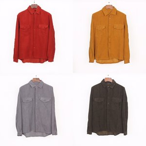 Mens Shirts Top Quality Embroidery Blouse Shirts Long Sleeve Solid Color Slim Fit Casual Clothing Long Sleeved Compass LOGO Shirt