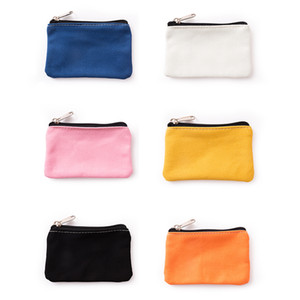 9 Color Canvas Wallet Cotton Spinning Zipper Coin Purse Personality Simple Wallet Portable Change Storage Bag Gift Supplies