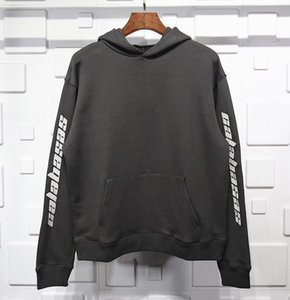 kanye designer street fashion trend style embroidered design hooded sweater men and women cotton comfortable fabric loose hooded sweat n2By#