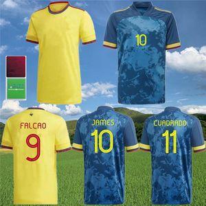 Thaïlande 20 21 Columbia Soccer Jersey Rodriguez Camiseta Maillot de pied 2021 Accueil 10 James 9 Falcao 11 Cuadrado Football Shirt Uniforme