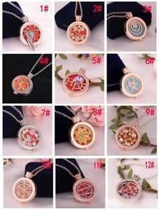 Vintage Aromatherapy Essential Oil Diffuser Necklace Jewelry Alloy Material Locket My Coin Rhinestone Crysal Letter Love Pendant Necklace