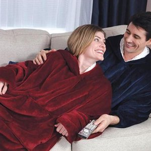 New TV lazy blanket cold-proof hooded nightgown outdoor clothes cashmere Warm pajamas pajamas TV blanket fleece warm clothes