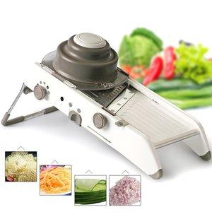 Ajustável Mandoline Slicer Cozinha Aço Inoxidável Manual Cortador Tritador Julienne para Slicing Alimentos Fruit Legumes