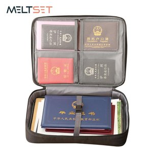 Document Ticket Bag Zipper File Document Bag Certificates Files Organizer for Home Travel Handbag Card Holder Large Capacity