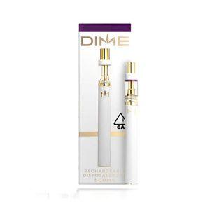 new Dime Disposable Pod Device Vape Pen 350mah Battery refilling Vape Cartridges Rechargeable with USB Charge port Empty 10 colors