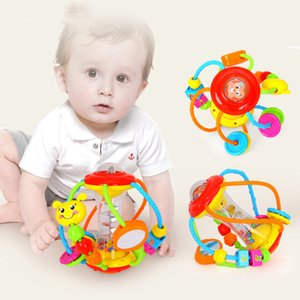 Apaffa Yenidoğan Bebek Çıngırak Eğitim Öğrenme Oyuncaklar Mobil Müzikal Çıngırak Oyuncaklar Bebek El Çıngıraklar için Bebek Oyuncakları 0-12 Ay LJ201124