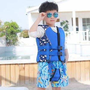 профессиональная Неопрен спасательные жилеты ребенка ребенку спасательный жилет водные виды спорта Плавание Гребля Beach Life Vest мальчик девочка Puddle Jumper