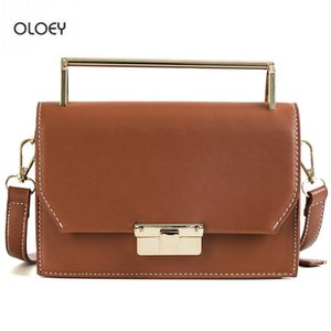 OLOEY 2020 new women's retro small square bag tide lock buckle wild shoulder messenger bag PU leather portable small square