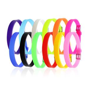 Bandas de moda de silicona pulseras de goma pulsera para niños en multiples colores DIY joyería correas de reloj pulsera elaboración de accesorios de regalo