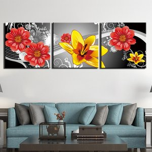3 Piece Canvas Art Prints Wall Art Still Life Flower Pictures Paintings For Bedroom Modern Posters Painting