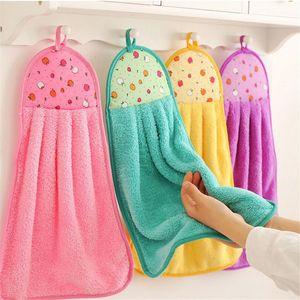 Thick Microfiber Hand Towel Bathroom Hanging Cloth Towel Soft Absorbent Housewife Gift Kitchen Hand Towel Handkerchief Comfortable